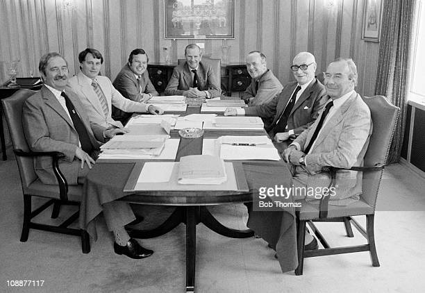 Ipswich Town manager Bobby Robson attending a Board meeting with the Directors of the Football Club in the the Boardroom at Portman Road in Ipswich...
