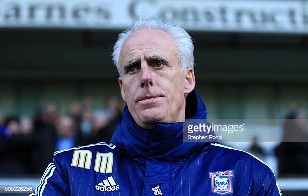 Ipswich Town Manager Mick McCarthy during the Sky Bet Championship match between Ipswich Town and Preston North End at Portman Road on January 16...
