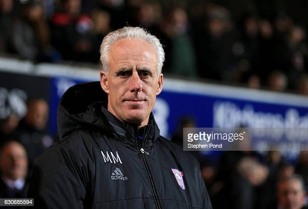 Ipswich Town Manager Mick McCarthy during the Sky Bet Championship match between Ipswich Town and Bristol City at Portman Road on December 30 2016 in...