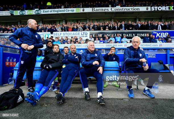 Ipswich Town Manager Mick McCarthy during the Sky Bet Championship match between Ipswich Town and Newcastle United at Portman Road on April 17 2017...
