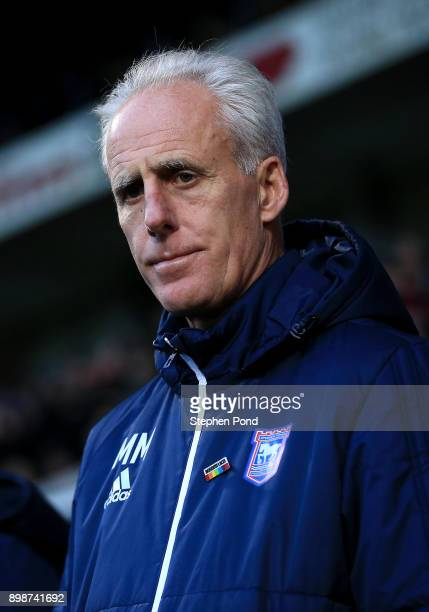 Ipswich Town Manager Mick McCarthy during the Sky Bet Championship match between Ipswich Town and Queens Park Rangers at Portman Road on December 26...