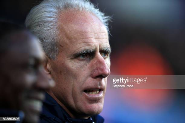 Ipswich Town Manager Mick McCarthy looks on during the Sky Bet Championship match between Ipswich Town and Reading at Portman Road on December 16...