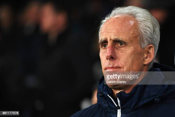 Ipswich Town Manager Mick McCarthy looks on prior to the Sky Bet Championship match between Derby County and Ipswich Town at iPro Stadium on November...