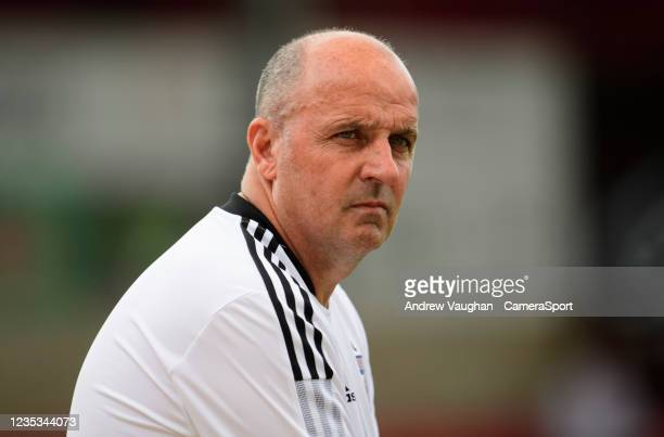 Ipswich Town manager Paul Cook prior to the Sky Bet League One match between Lincoln City and Ipswich Town at LNER Stadium on September 18, 2021 in...