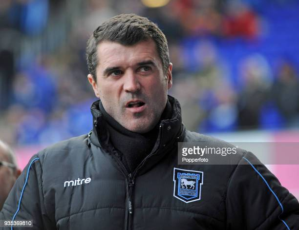 Ipswich Town manager Roy Keane during the npower Championship match between Ipswich Town and Swansea City at Portman Road in Ipswich on December 4...