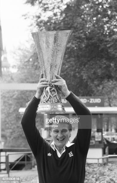 Ipswich Town, morning after winning UEFA Cup. Bobby Robson manager The 2nd leg match of UEFA Cup Final between AZ Alkmaar v Ipswich Town was held at...