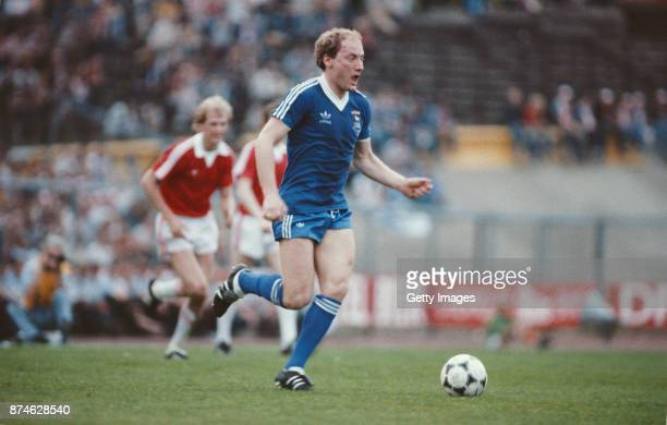 Ipswich Town striker Alan Brazil in action during the UEFA Cup Final 2nd Leg against AZ 67 Alkmaar on May 20 1981 in Amsterdam Netherlands