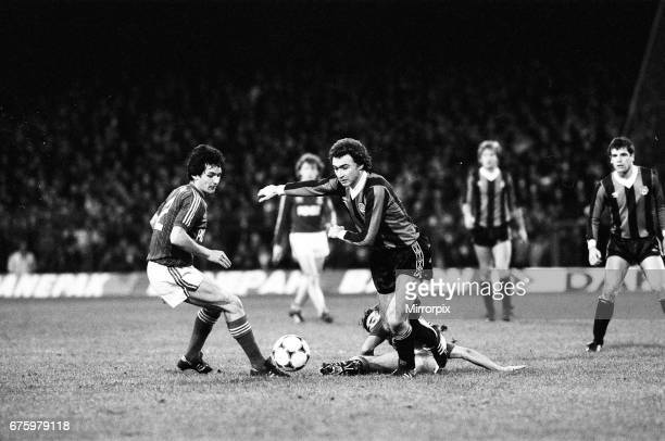 Ipswich Town v Manchester City league match at Portman Road 28th November 1981 George Burley Final score Ipswich 20 Manchester City