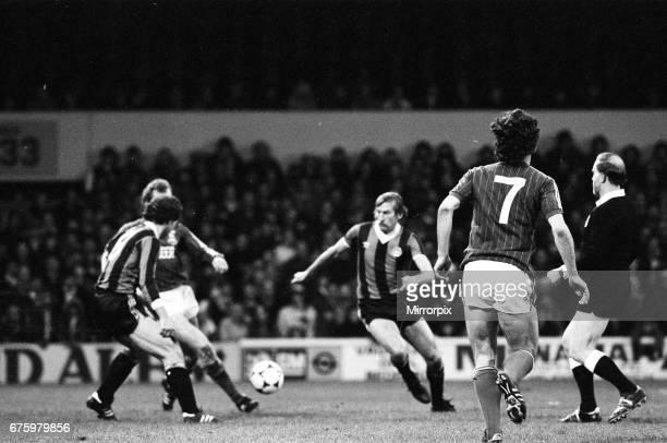 Ipswich Town v Manchester City league match at Portman Road November 1981 Final score Ipswich 20 Manchester City