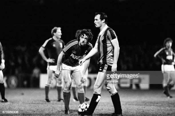 Ipswich Town v Manchester City league match at Portman Road November 1981 John Wark Final score Ipswich 20 Manchester City