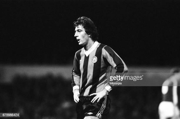 Ipswich Town v Manchester City league match at Portman Road November 1981. Trevor Francis Final score: Ipswich 2-0 Manchester City.