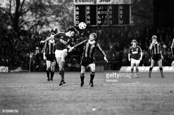 Ipswich Town v Manchester City league match at Portman Road November 1981. John Wark Final score: Ipswich 2-0 Manchester City.