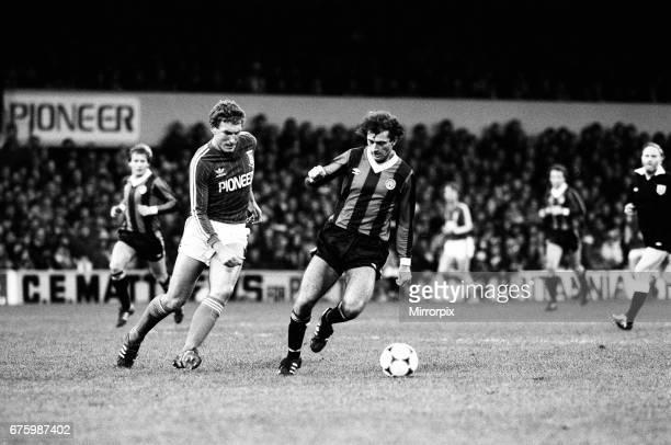 Ipswich Town v Manchester City league match at Portman Road November 1981 Trevor Francis Final score Ipswich 20 Manchester City