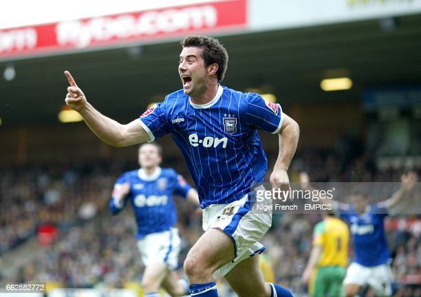 Ipswich Town's Alan Lee celebrates after scoring the opening goal of the match