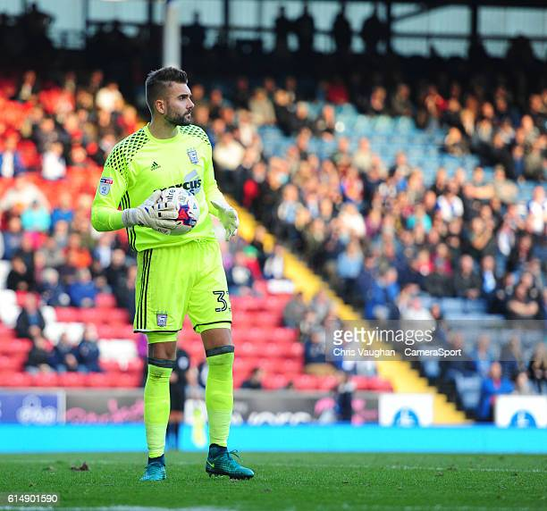 Ipswich Town's Bartosz Bialkowski during the Sky Bet Championship match between Blackburn Rovers and Ipswich Town at Ewood Park on October 15 2016 in...