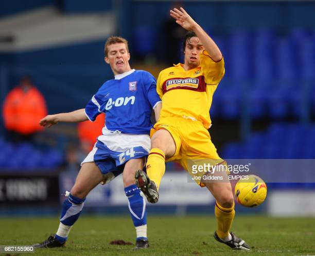 Ipswich Town's Billy Clarke and Burnley's Michael Duff