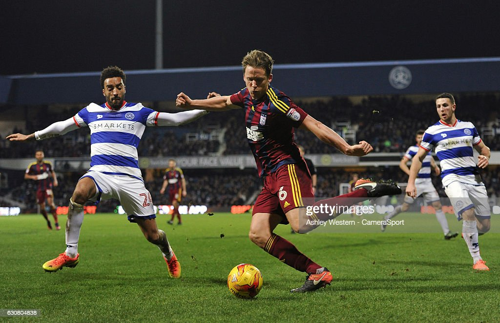Ipswich Town's Christophe Berra in action during the Sky Bet Championship match between Queens Park Rangers and Ipswich Town at Loftus Road on January 2, 2017 in London, England.