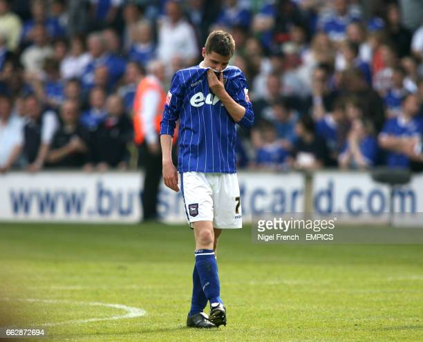 Ipswich Town's Owen Garvan shows his disappointment as his side fails to reach the playoffs