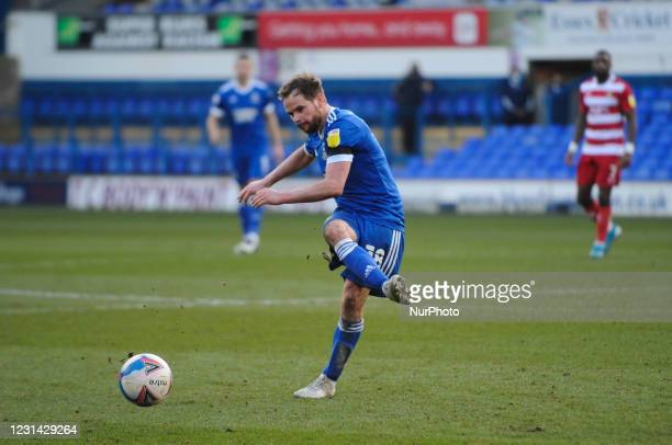Ipswichs Alan Judge during the Sky Bet League 1 match between Ipswich Town and Doncaster Rovers at Portman Road, Ipswich on Saturday 27th February...