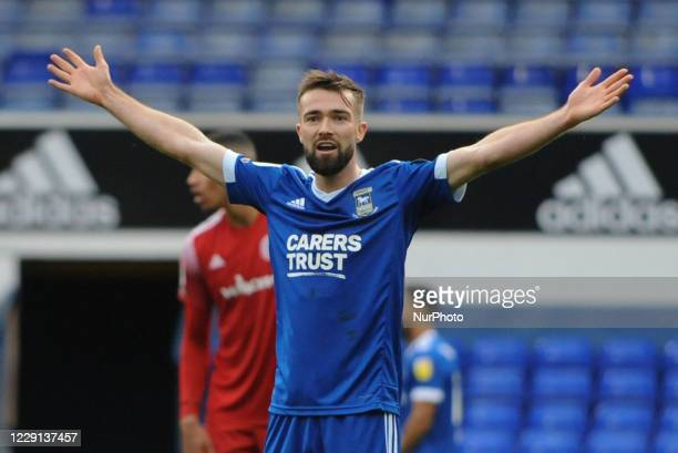 Ipswichs Gwion Edwards during the Sky Bet League 1 match between Ipswich Town and Accrington Stanley at Portman Road, Ipswich, England on 17th...