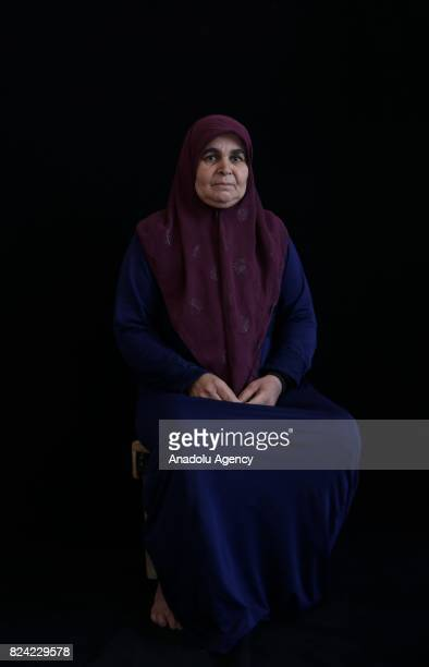Iptisam Ahmet stays with her relatives who escaped from Tell Abyad district of Syria's Raqqa province due to the 6yearlong ongoing Syrian civil war...