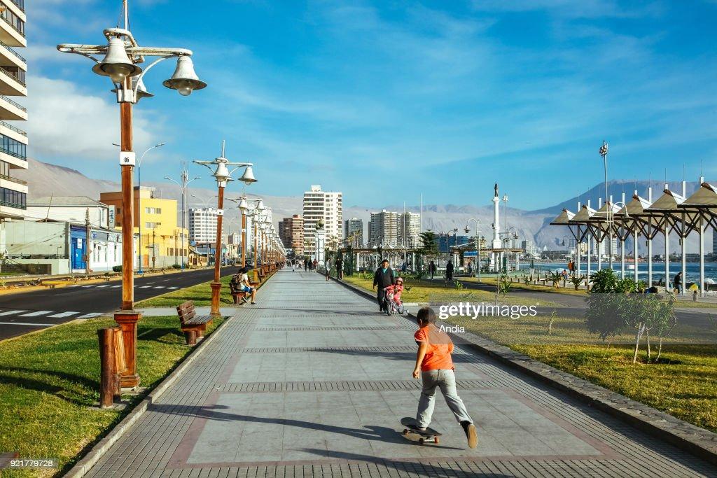 Iquique, street scene. : News Photo