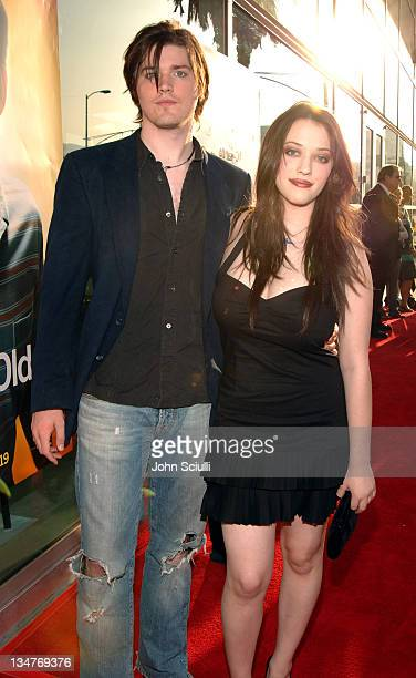 Ira David Wood and Kat Dennings during 'The 40YearOld Virgin' Los Angeles Premiere Red Carpet at Arclight Hollywood in Los Angeles California United...