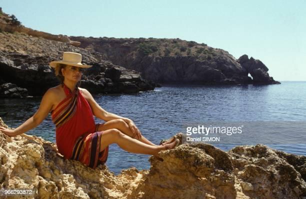 Ira de Furstemberg en vacances le 17 juillet 1991 a Ibiza Espagne