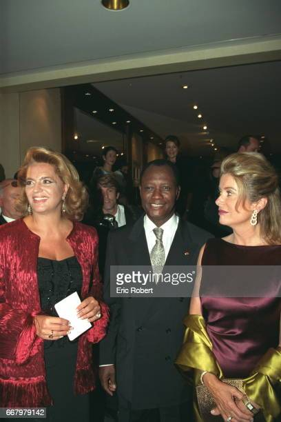Ira de Furstenberg Alassane D Ouattara IMF Deputy Managing Director and Catherine Deneuve