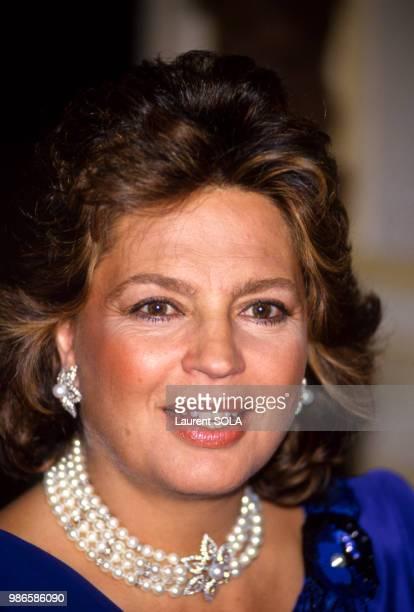 Ira de Furstenberg lors d'une soirée Van Cleef le 27 janvier 1987 à Paris France