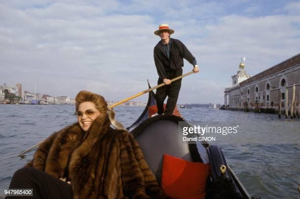 Ira De Furstenberg portrait session in March 1989 in Venice Italy