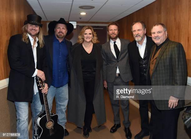 Ira Dean Garth Brooks Trisha Yearwood Dierks Bentley Rudy Gatlin and Steve Gatlin attend Singer/Songwriter/Comedian Member of both The Nashville...
