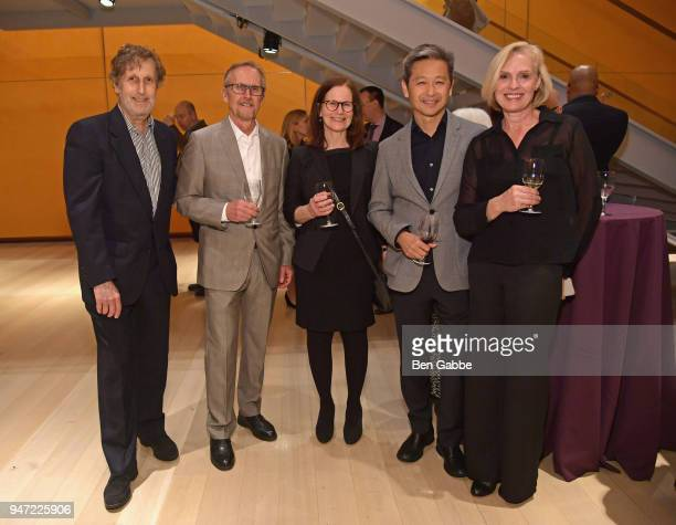 Ira Garber Richard Stoner Carol Garber David Pakshong and Victoria Pakshong attend the Academy Museum Conversation at The Times Center featuring...