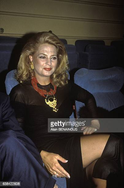 Ira of Furstenberg at Dracula movie premiere in Paris France on January 7 1993