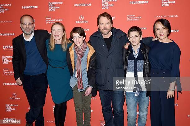 Ira Sachs Jennifer Ehle Theo Taplitz Greg Kinnear Michael Barbieri and Paulina Garcia attend the 'Little Men' Premiere during the 2016 Sundance Film...