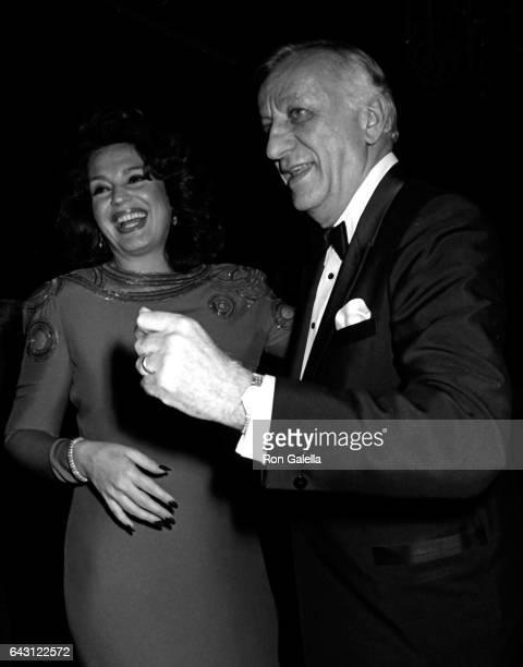 Ira von Furstenberg and Frank Stella attend Best Awards Dinner Dance on December 12 1985 at the Pierre Hotel in New York City