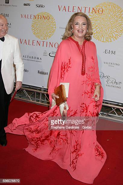 Ira Von Furstenberg arrives at the Valentino's gala dinner held at Villa Borghese in Rome