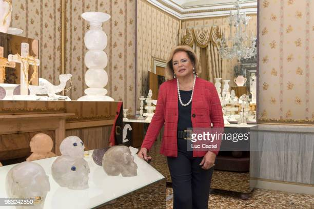 Ira Von Furstenberg exhibits her 'Objets Uniques' Collection at Museo Correr on May 25 2018 in Venice Italy