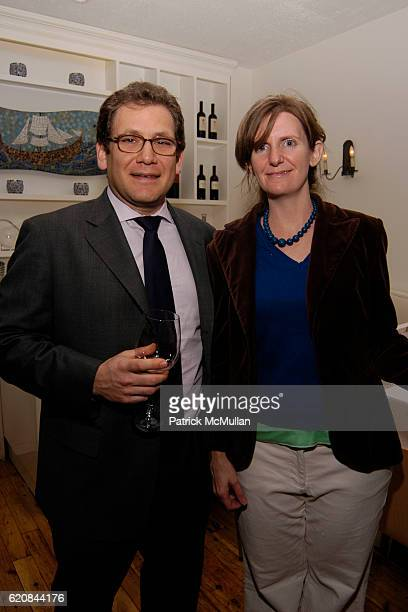 Ira Wolfson and Kathleen Hudspeth attend Whitney Biennial Artists Party at Trata Estiatoria on March 8 2008 in New York City