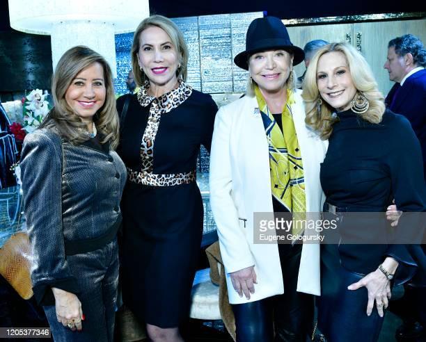 Iracilda Lichtinger Leda Nussbaum Suzan Kremer and Randi Schatz attend the Andrea Bocelli Foundation Lillian Gorbachincky Present First Annual...