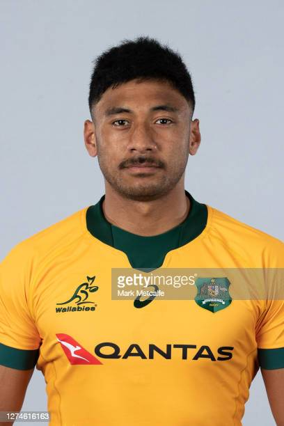 Irae Simone poses during the Australian Wallabies rugby team headshots session at the Crowne Plaza on September 21 2020 in the Hunter Valley Australia