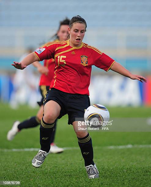 Iraia Perez of Spain in action during the FIFA U17 Women's World Cup Group C match between Spain and Japan at the Ato Boldon Stadium on September 6...
