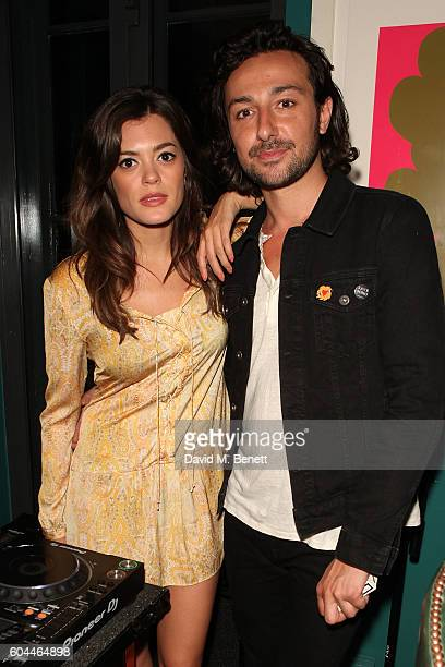 Iraina MacCormack and Alex Zane attend 'Travels With Bowie Geoff MacCormack In Conversation With Dylan Jones' at The Groucho Club on September 13...
