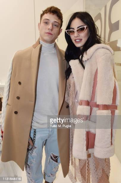 Irama and Giulia De Lellis attend MIDO 2019– Milano Eyewear Show on February 24 2019 in Milan Italy