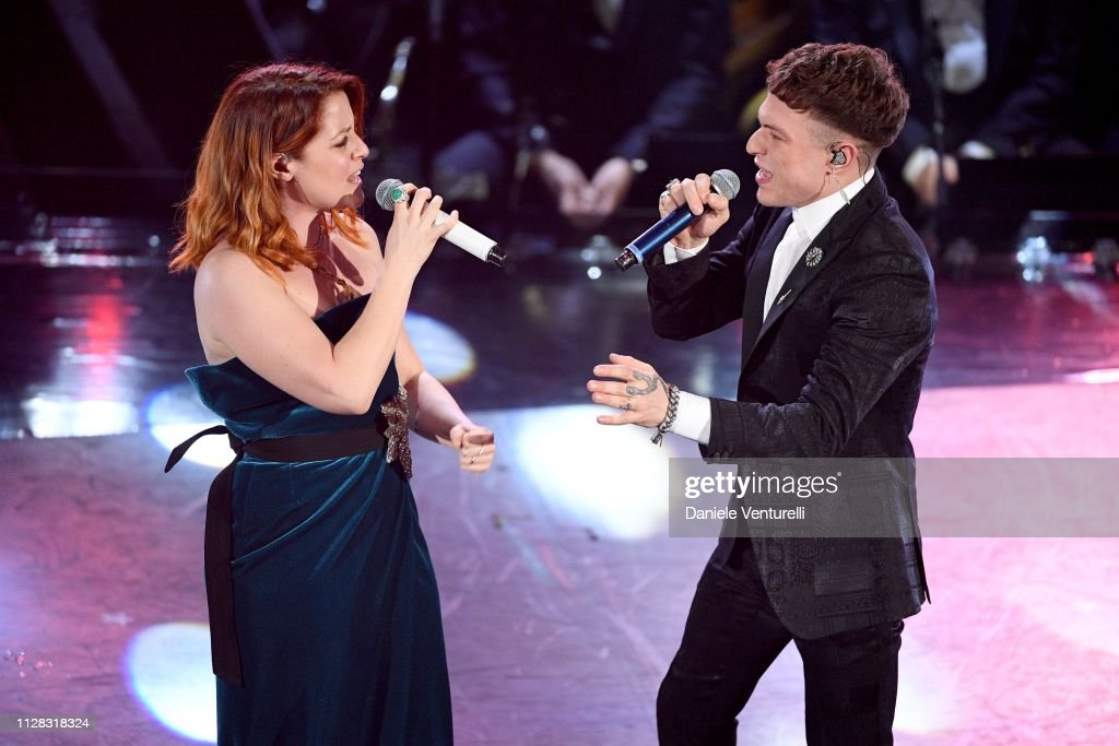 Irama With Noemi On Stage During The Fourth Night Of The