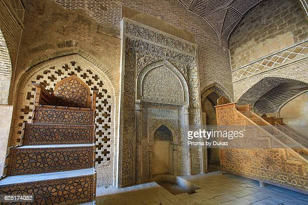 Iran Esfahan City Masjede Jame UNESCO world heritage West Iwan Room of Sultan Uljeitu
