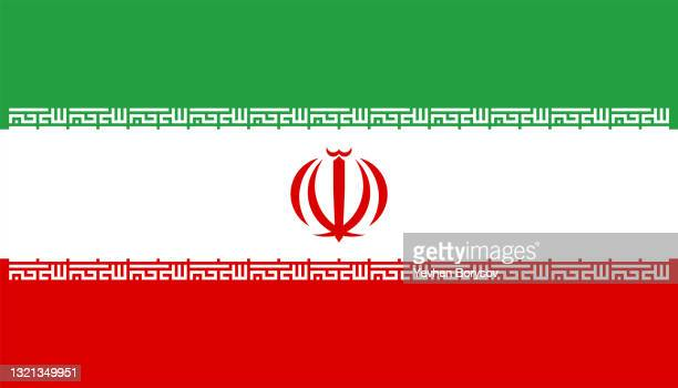 iran flag simple illustration for independence day or election - election stock pictures, royalty-free photos & images