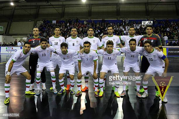 Iran Futsal poses prior to the International Futsal friendly match Italy and Iran between on October 20 2015 in Prato Italy