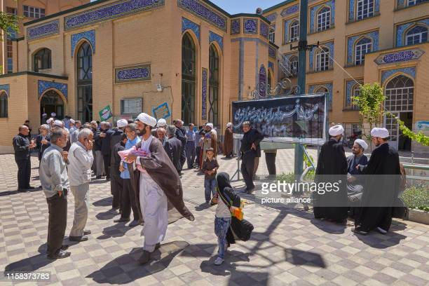 In a mosque in the Iranian city Hamadan in the west of the country believers gathered for prayer taken on Photo Thomas Schulze/dpaZentralbild/ZB