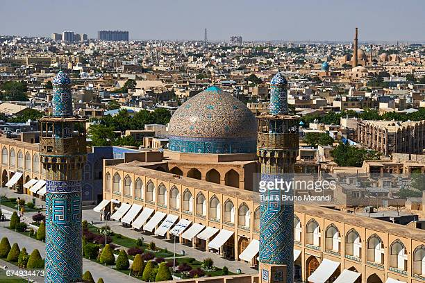 iran, isfahan, cityscape - friday mosque stock pictures, royalty-free photos & images